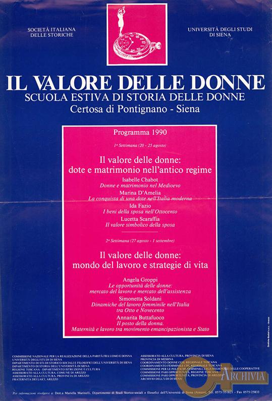 Il valore delle donne / Scuola estiva di storia delle donne - 1990
