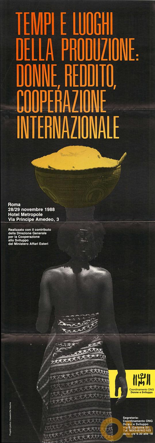 Donne, reddito, cooperazione internazionale - 28-29/11/1988