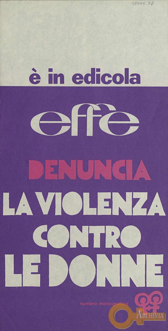 E' in edicola Effe - [1975]