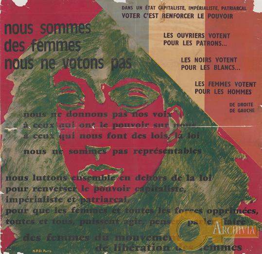 Nous sommes des femmes / nous ne votons pas / N.P.P. Paris