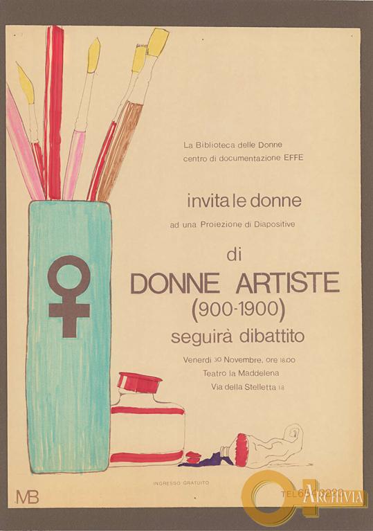 Donne artiste (900-1900) - 30/11/[1979]