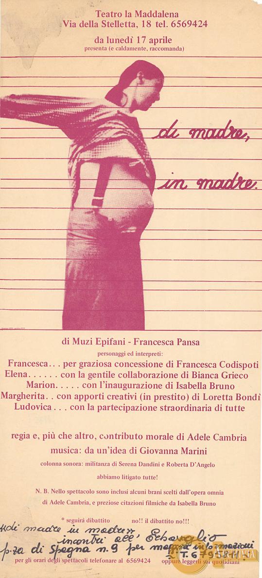 Di madre in madre - 17/04/[1978]