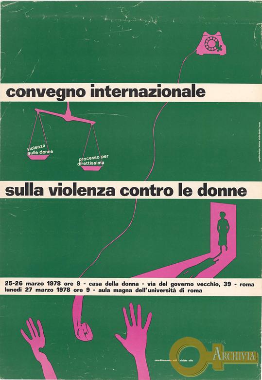 Convegno internazionale sulla violenza contro le donne - 25-27/03/1978