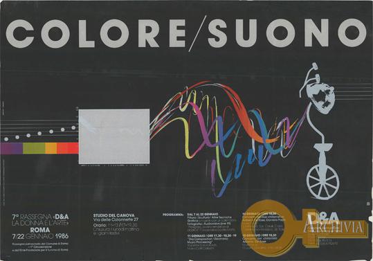 Colore/Suono / 7a Rassegna D&A / La donna e l'arte - 07-22/01/1986
