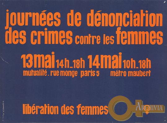 Giornate di denuncia dei crimini contro le donne - 13-14/05/[1972]