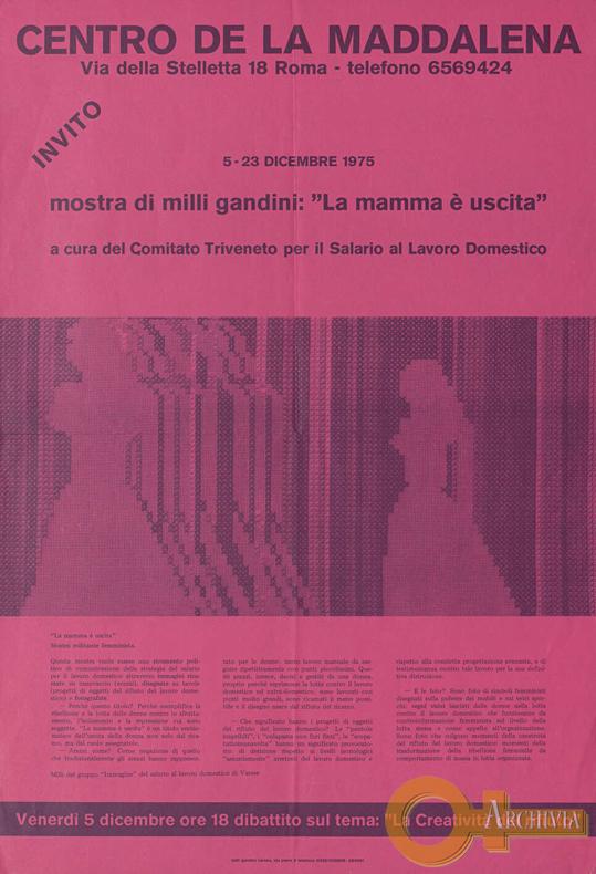La mamma è uscita / Mostra di Milli Gandini - 5-23/12/1975