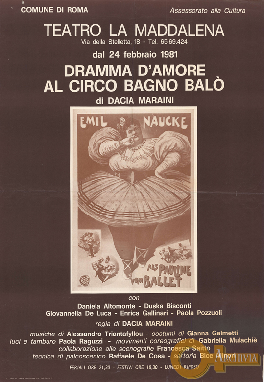 Dramma d'amore al Circo Bagno Balò - 24/02/1981