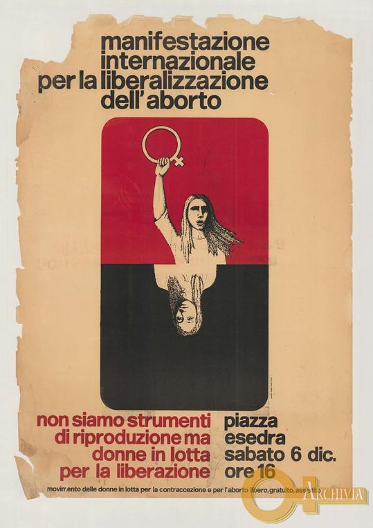 Manifestazione internazionale per la liberalizzazione dell'aborto - 06/12/[1975]