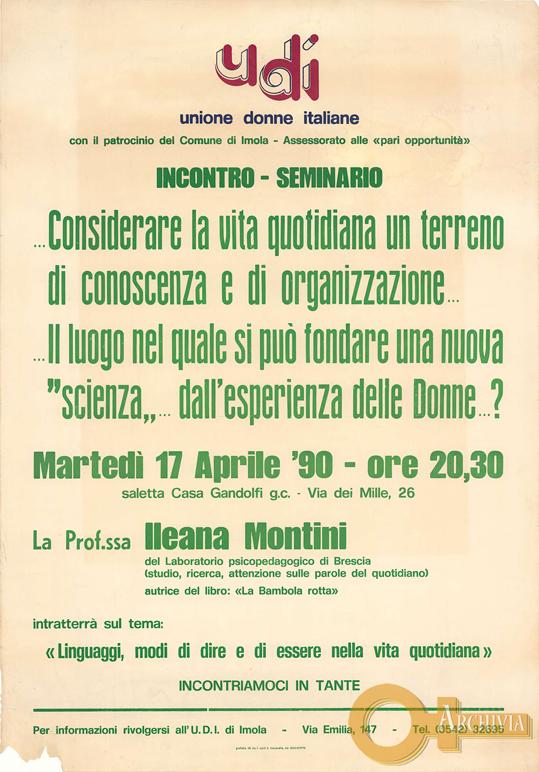 Linguaggi, modi di dire... - 17/04/1990