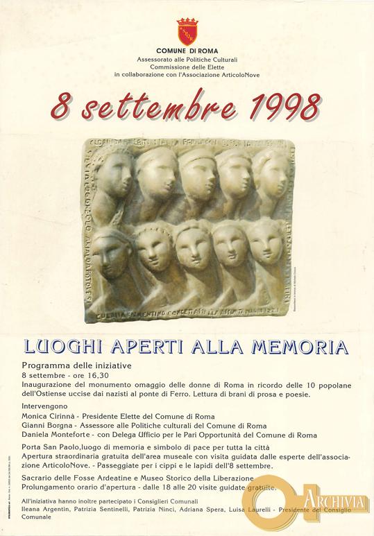 Luoghi aperti alla memoria - 08/09/1998