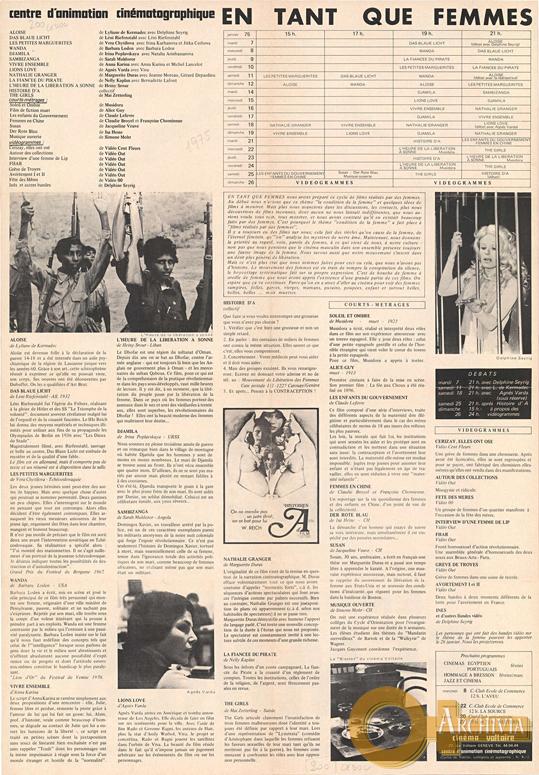 Come donne / Cinema Voltaire - [1975]