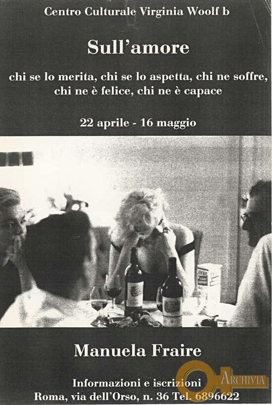 Sull'Amore / Incontri con Manuela Fraire - [1990]