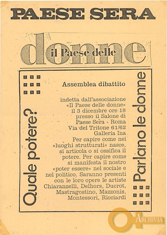 Quale potere? / Parlano le donne - 03/12/[1986]